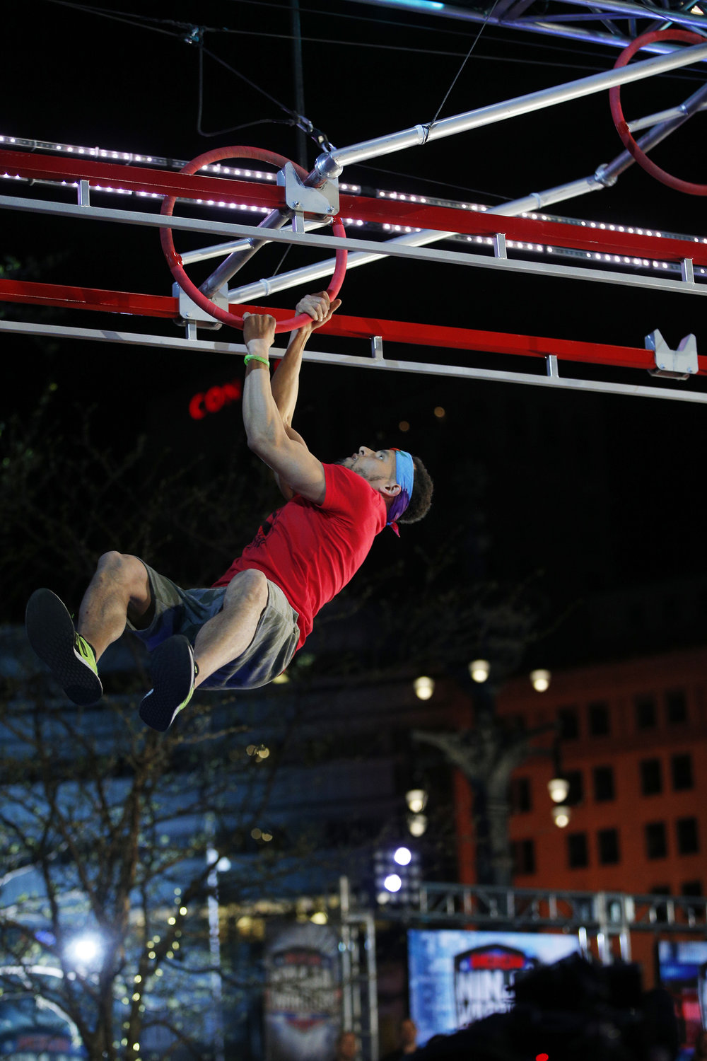Playground Ninjas Director, Marcelino Riley, competing on American Ninja Warrior season 10.