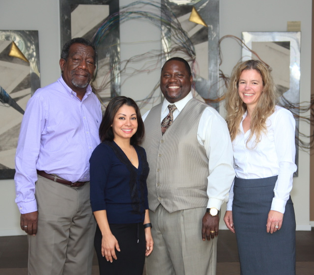 PDC Team (left to right) george crosby, ADRIANA HARRIS, OSAYAHDE NESBIT, Abbigail Brown