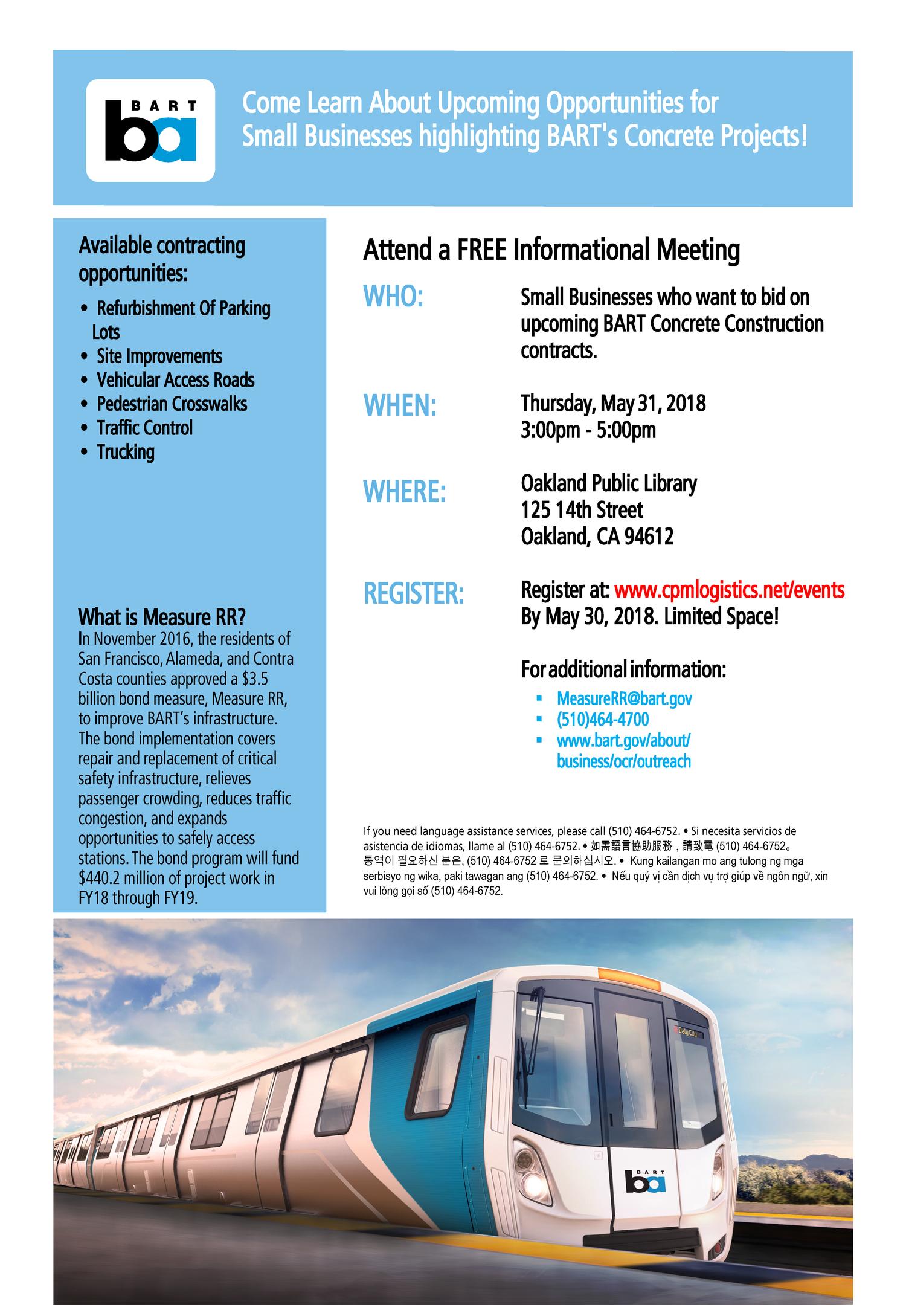 BART Concrete Meeting (Oakland) — CPM Logistics