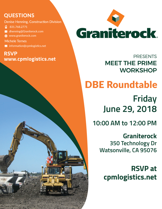 Round Table Watsonville Ca.Graniterock Dbe Roundtable Cpm Logistics