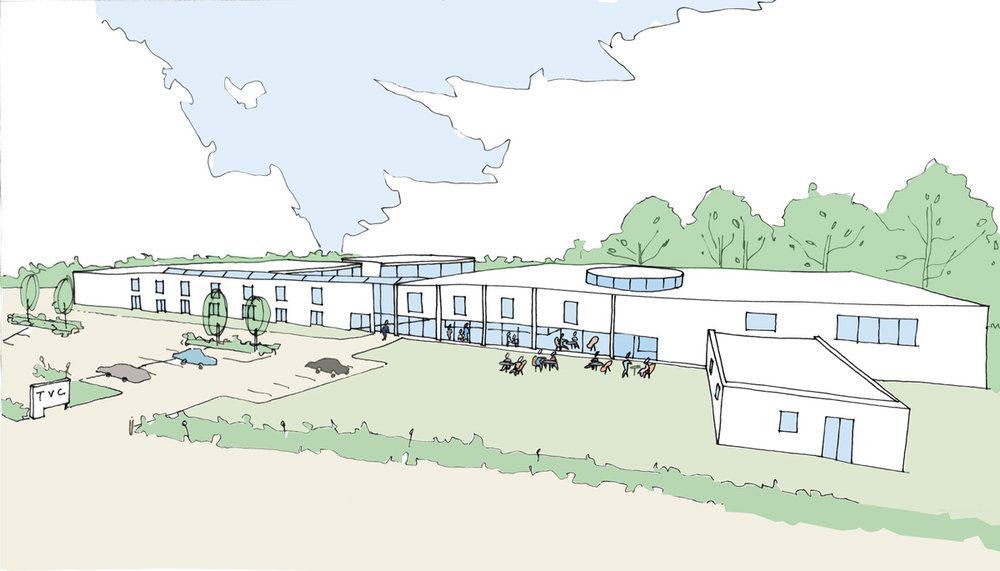 Architect's impression of the new facility.