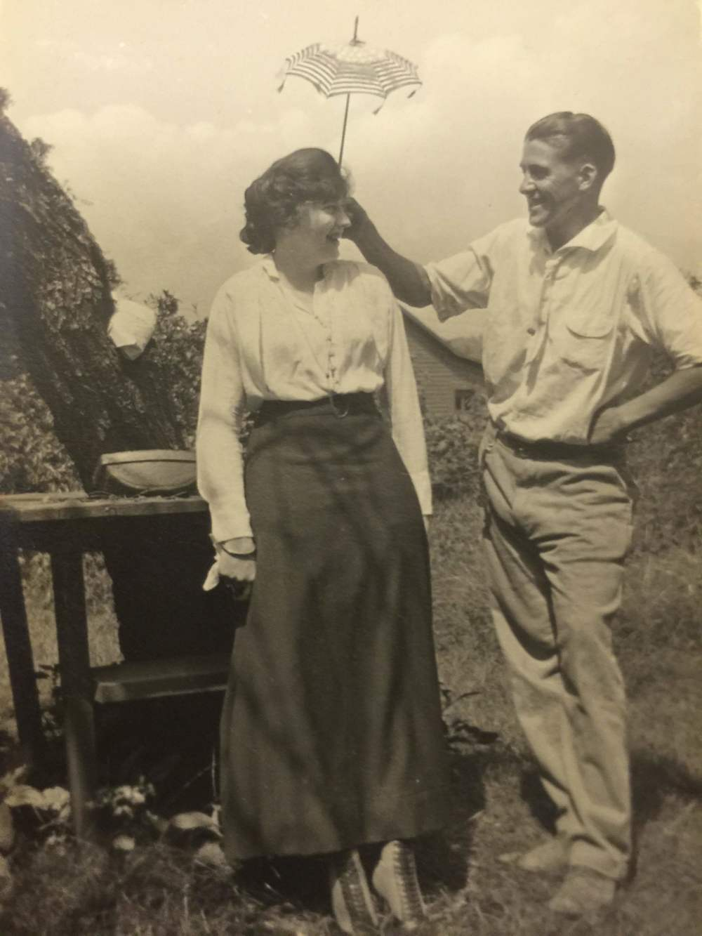Evelyn Hazen with unknown man Mabry-Hazen Collection
