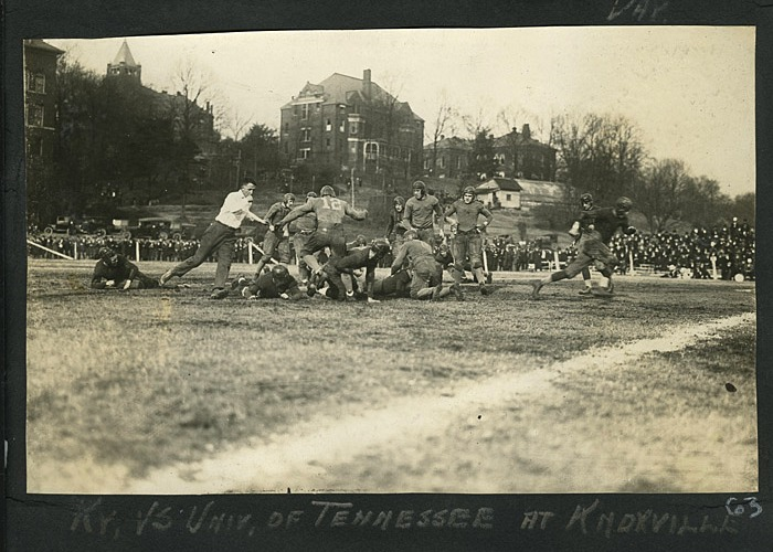An early 1920s game between the Univ of KY Wildcats and the Univ of TN Vols. Appalachian History