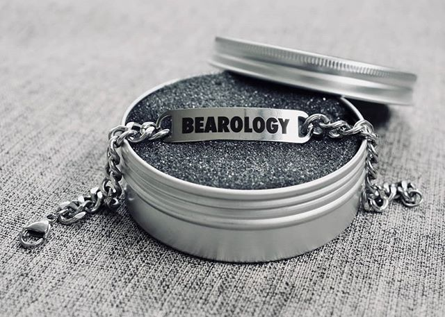 Let your aura glow in style and shimmer. Engage your inner BEAR. With the NEW BEAROLOGY STEEL Black Engraved!  Collectable. Light-weight. Curb chain gives a sleek and comfortable fit. Made using Stainless Steel with the ICONIC BEAROLOGY brand name. QUALITY packaging fits in the palm of your hand.  Order yours TODAY at www.bearology.asia