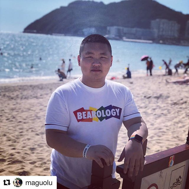 Oh! Hey Mr. @maguolu, isn't that BEAROLOGY Rainbow tee shining bright in the sunlight? Super cool!! Grab this one at http://www.bearology.asia/product/bearology-rainbow-white