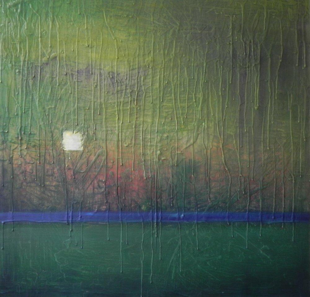 """MIGNON, 2015. 30"""" x 30"""". Cradled Wood Panel. Oil and Wax. Copyright © Karen Santos 2015."""