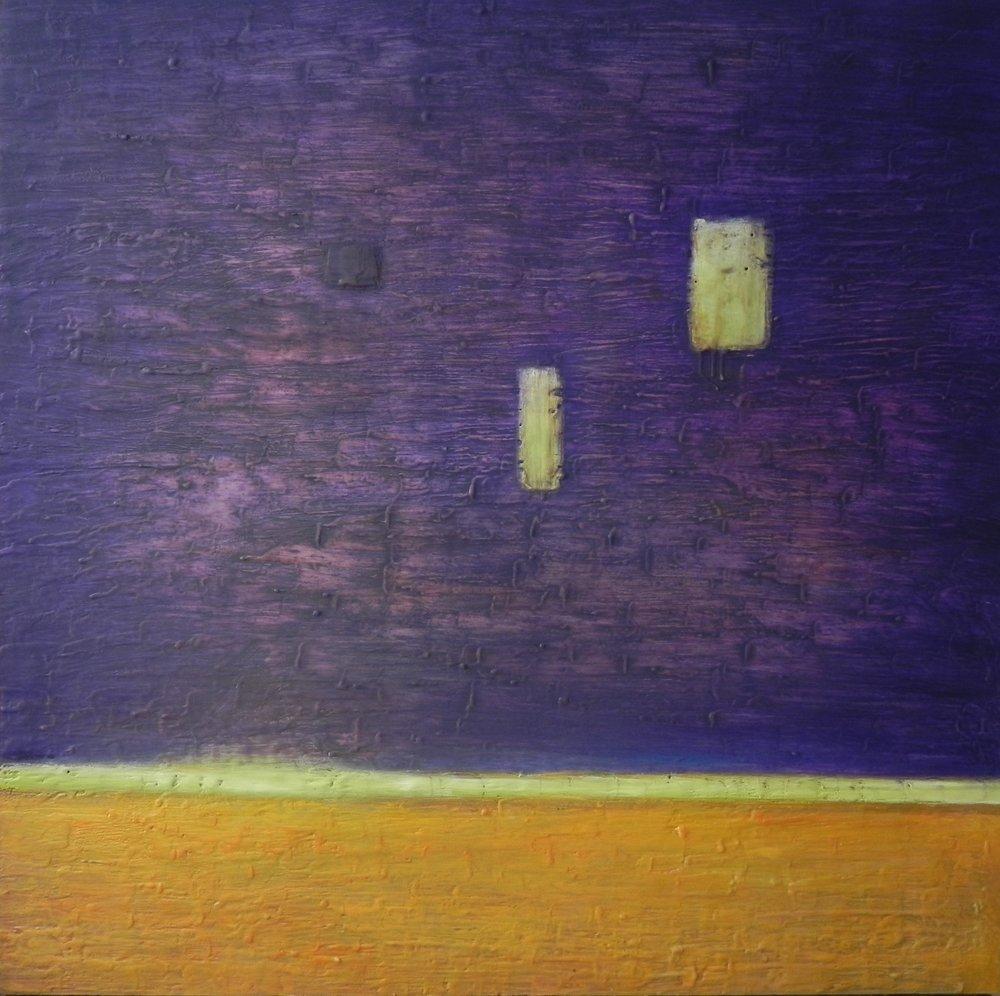 """CABARET, 2015. 30"""" x 30"""". Cradled Wood Panel. Oil and Wax. Copyright © Karen Santos 2015."""
