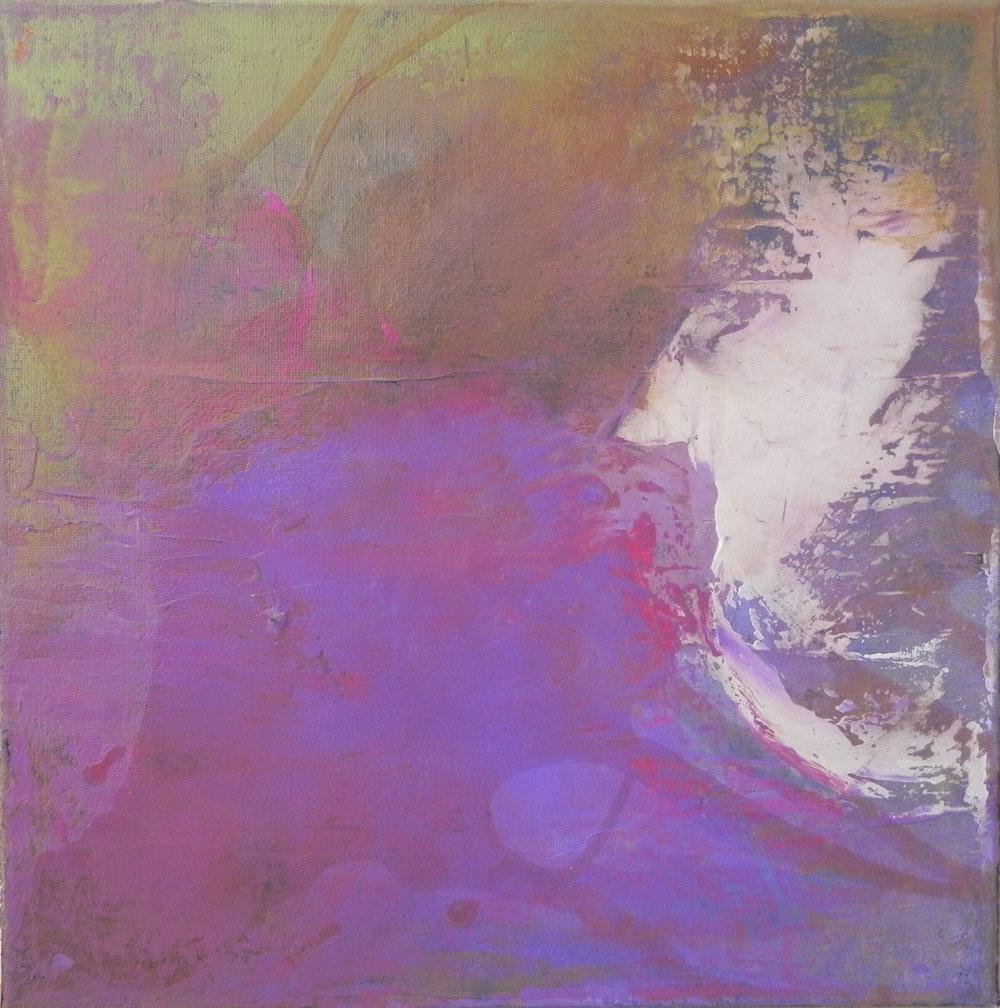 """BREATH, 2013. 12"""" x 12"""". Canvas. Acrylic. Copyright © Karen Santos 2013."""