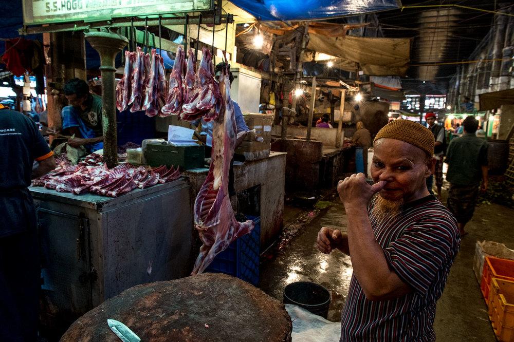 New Market Kolkata India slaughterhouse.