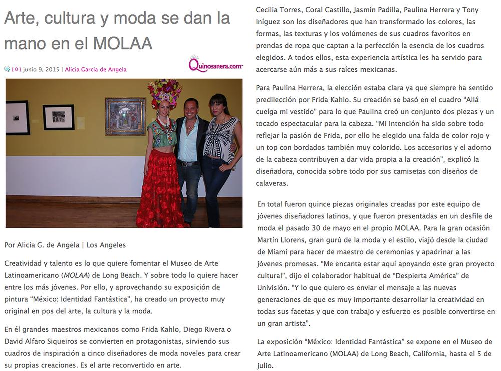 Article MOLAA Gala Fashion Show La Opinion Quinceanera