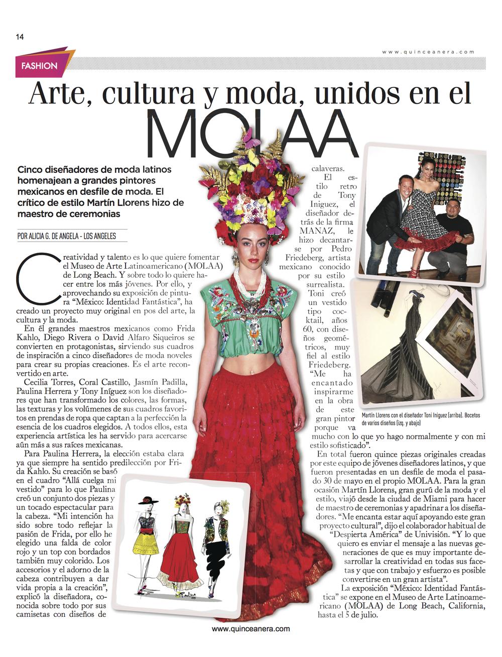 MOLAA Fashion show article Arte, Cultura Moda