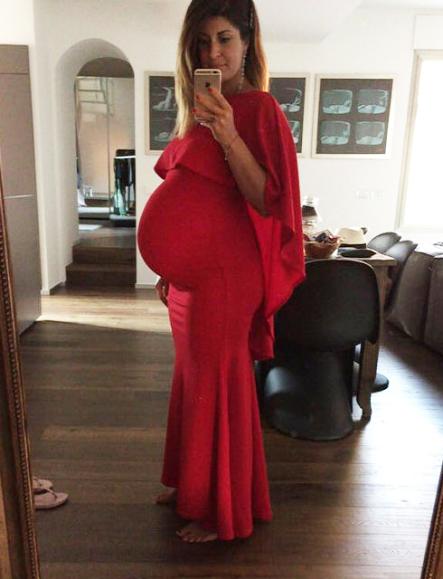 418c29a4d9519 Red Cape Maternity Dress Pregnancy Dress For Photoshoot — SKAIRA
