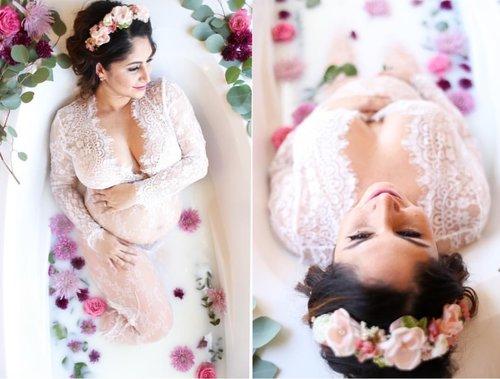 5461db5651242 White Lace Maternity Pregnancy Dress For Photoshoot Milk Bath Dress ...