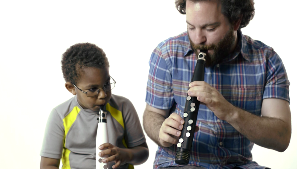 Young players appreciate not having to worry about embouchure, covering holes or pressing delicate keys.