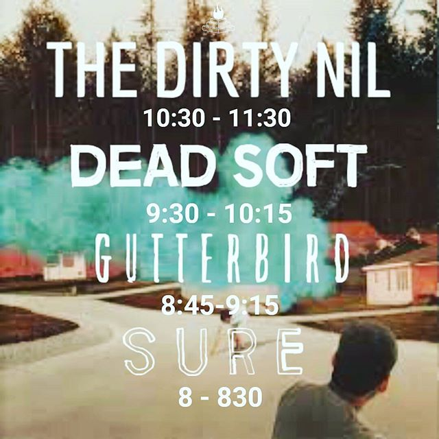 C U 2NITE! - - - #yyjevents #yyj #yyjmusic #holysmokesblog #thedirtynil #deadsoft #gutterbird #sure #luckybar #sunday #beer #punk #rock #indie #pop #stressed #mosh #dinealonerecords #tour #stoked @deadsofties @dinealonerecords @thedirtynil @luckybaryyj