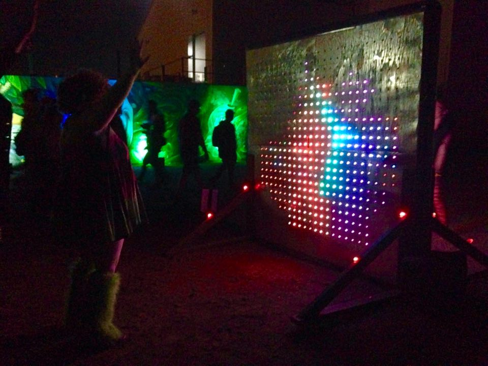 Liminal Convergence's interactive LED display