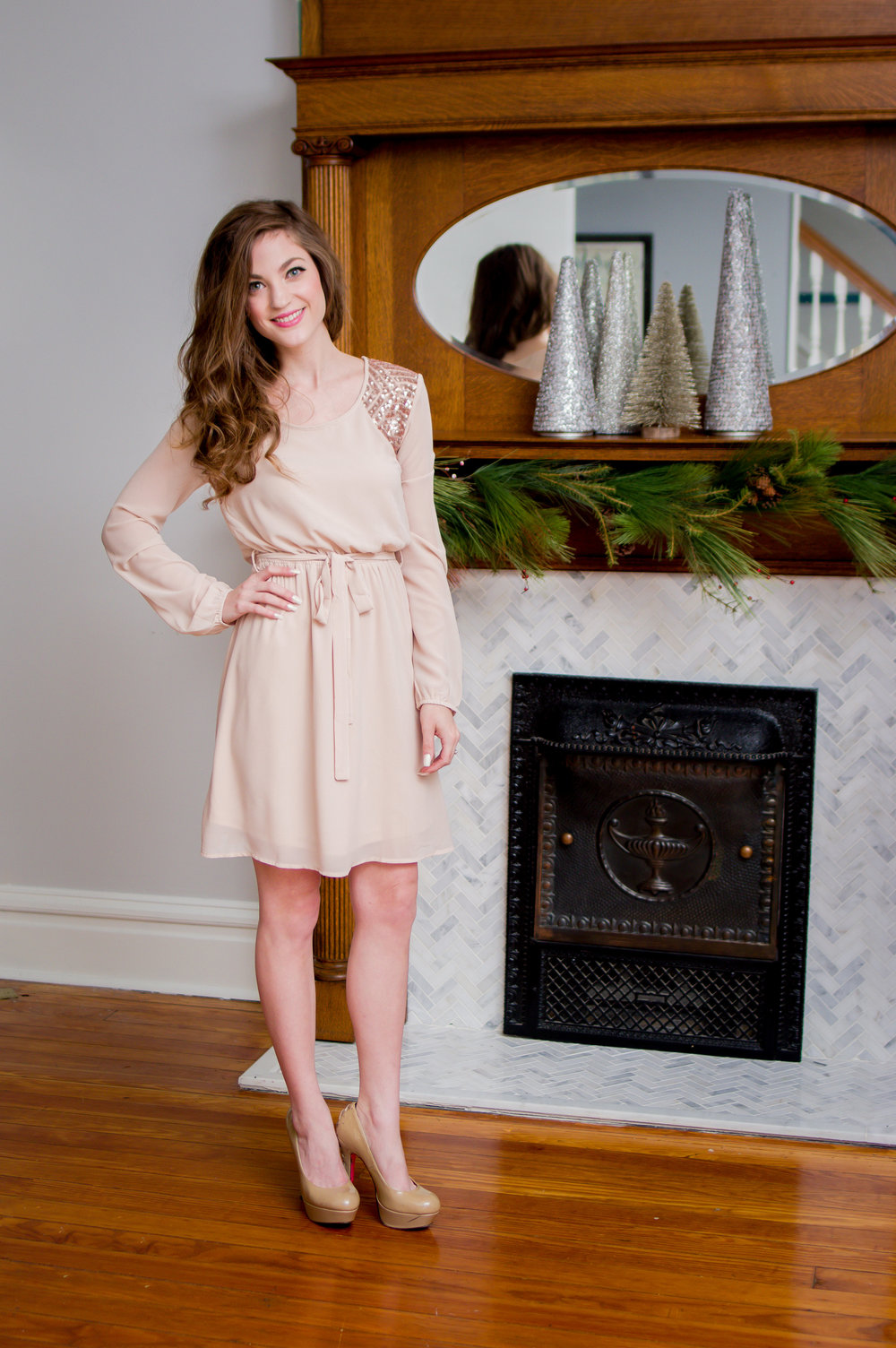Cream Party Dress ($40) +10% off!