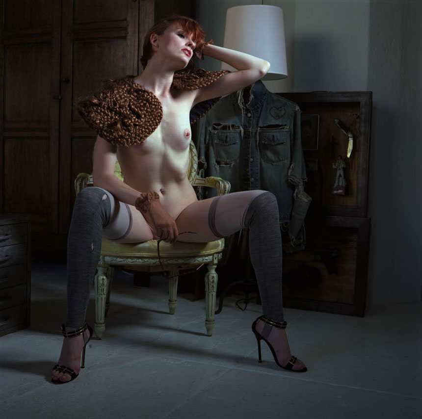"aRUDE MAGAZINE  FEATURE EDITORIAL  & PICTORIAL:  ""VOLUPTUOUS PANIC:  GEORGE PITTS' WOMEN"""
