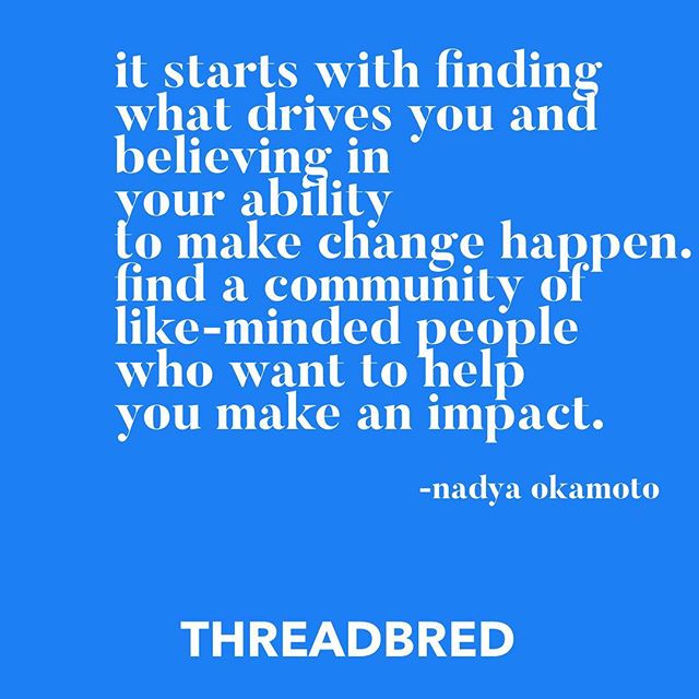 ✨Finding communities that share your values and desire to create impact make all the difference in your journey✨thanks @nadyaokamoto for sharing what made the difference in yours🙏🏾 . . . . #makeyourworkmatter #community #communitybuilding #tribe #findyourtribe #impact #changemakers #givingback