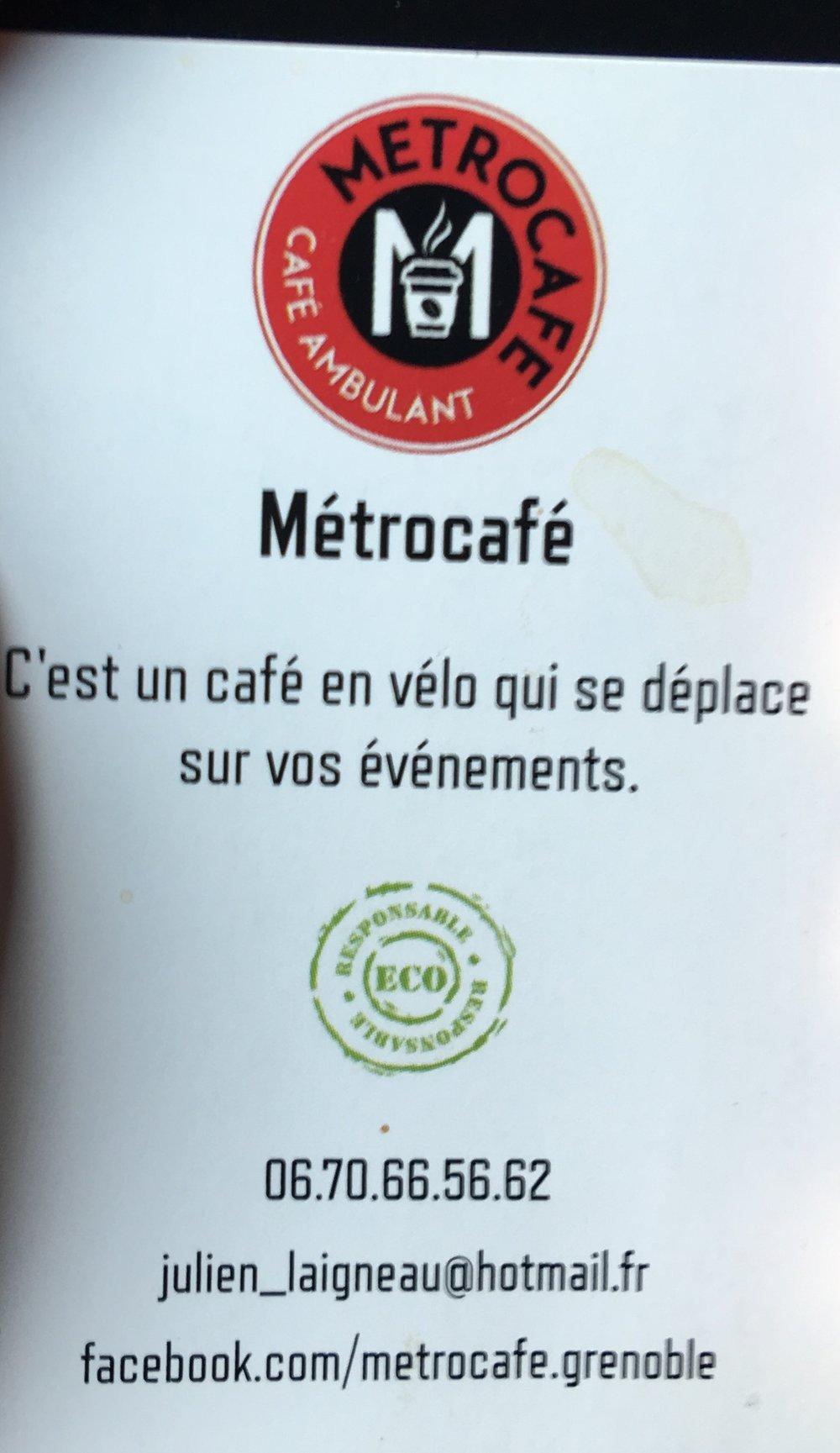 Métrocafé - café ambulant à Grenoble