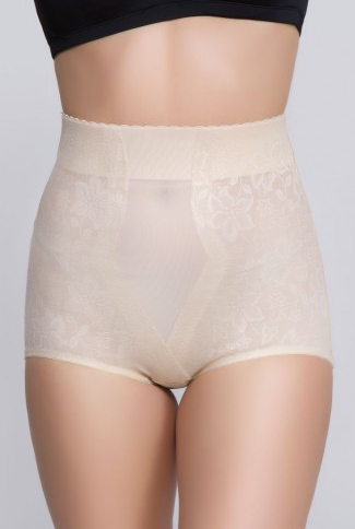 Lace Jacquard Control Brief (Beige - 281) 1.png