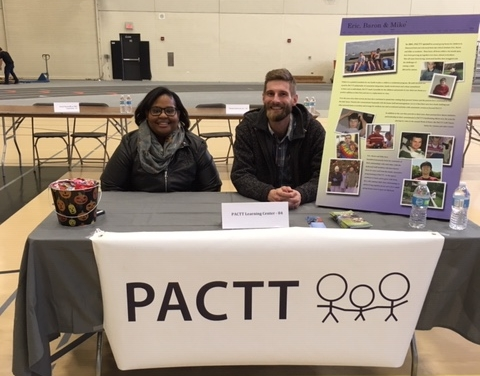 Vera and Jason represented PACTT's voc program at the Options transition fair in Wheaton, Il.