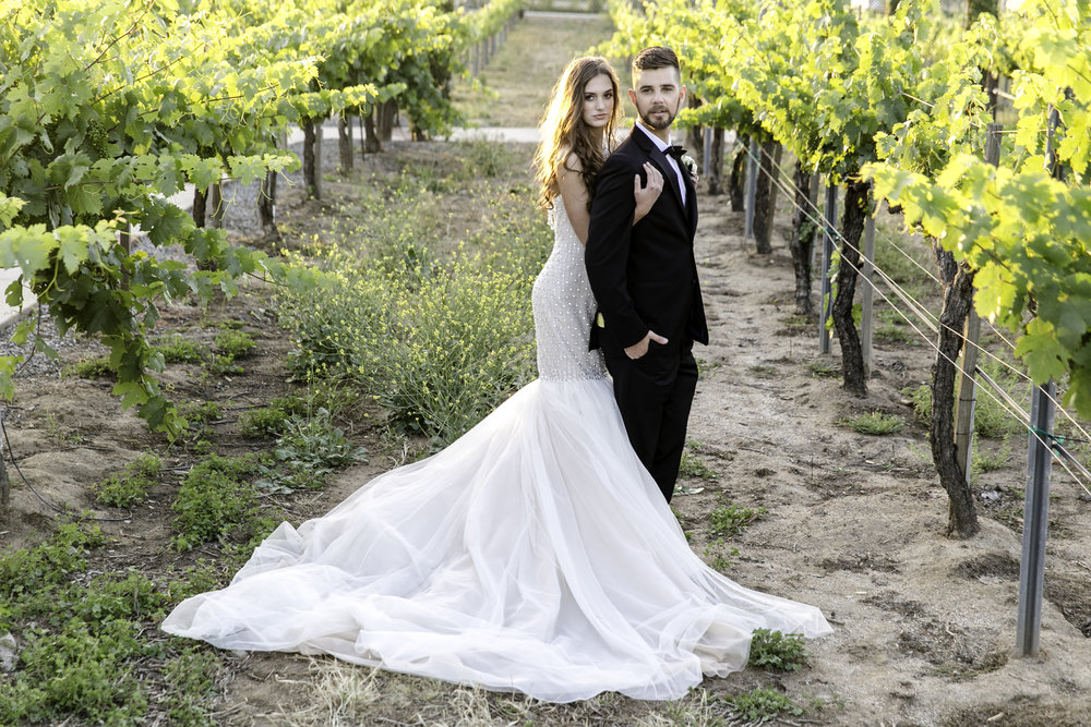 Ines Di Santo Gown | Michelle Garibay Events | Ponte Vineyard Inn