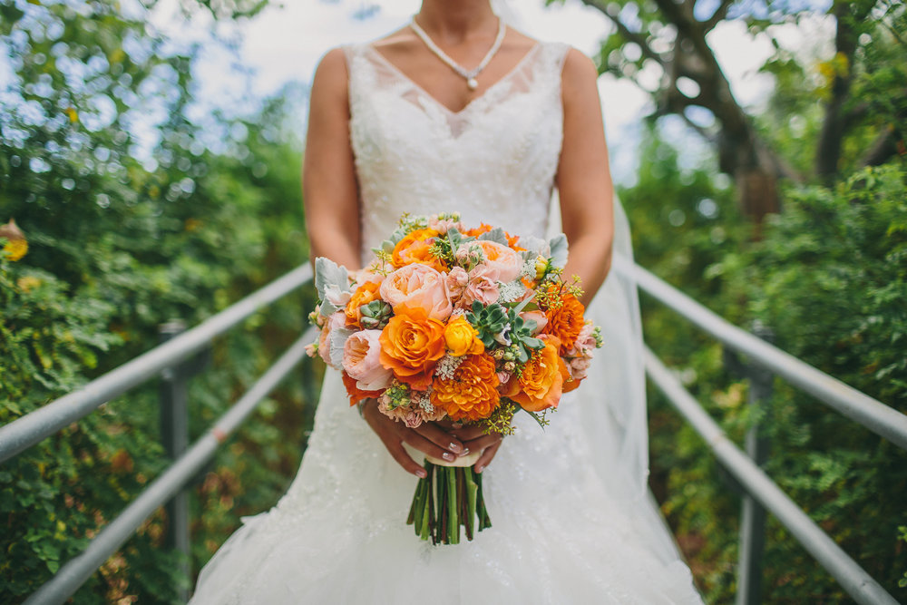 Orange and Peach Bouquet | Michelle Garibay Events
