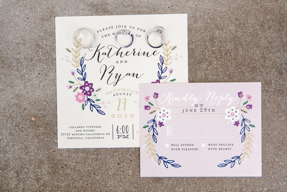 Whimsical Purple Floral Invitation Suite | Michelle Garibay Events | Leah Marie Photography