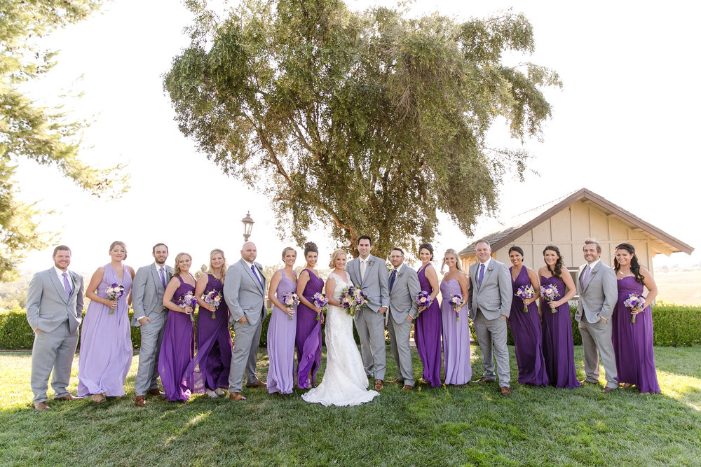 Purple and Gray Bridal Party | Michelle Garibay Events | Leah Marie Photography