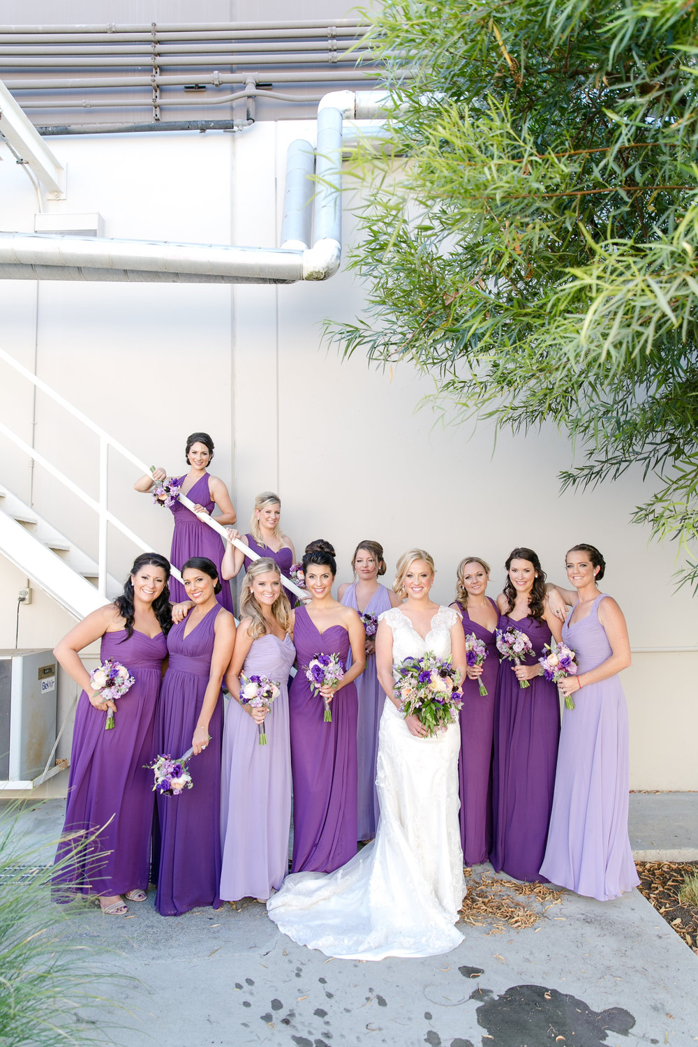 Purple Ombre Bridesmaid Dresses | Michelle Garibay Events | Leah Marie Photography