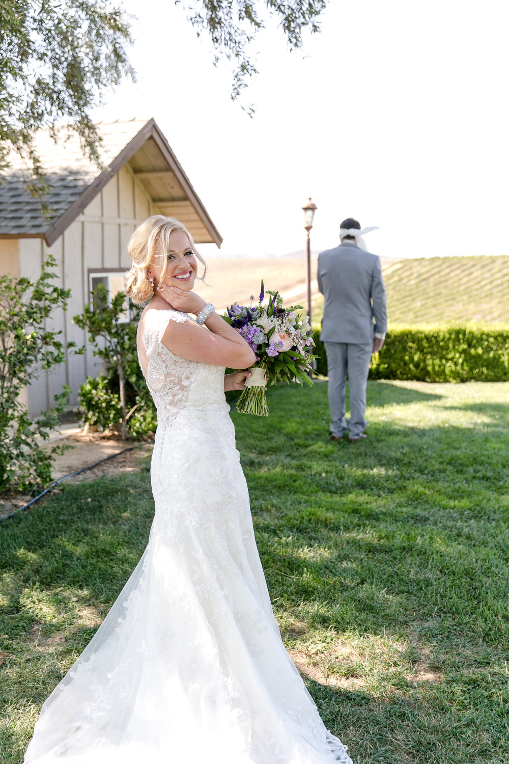 First Look Photo at Callaway Winery | Michelle Garibay Events | Leah Marie Photography