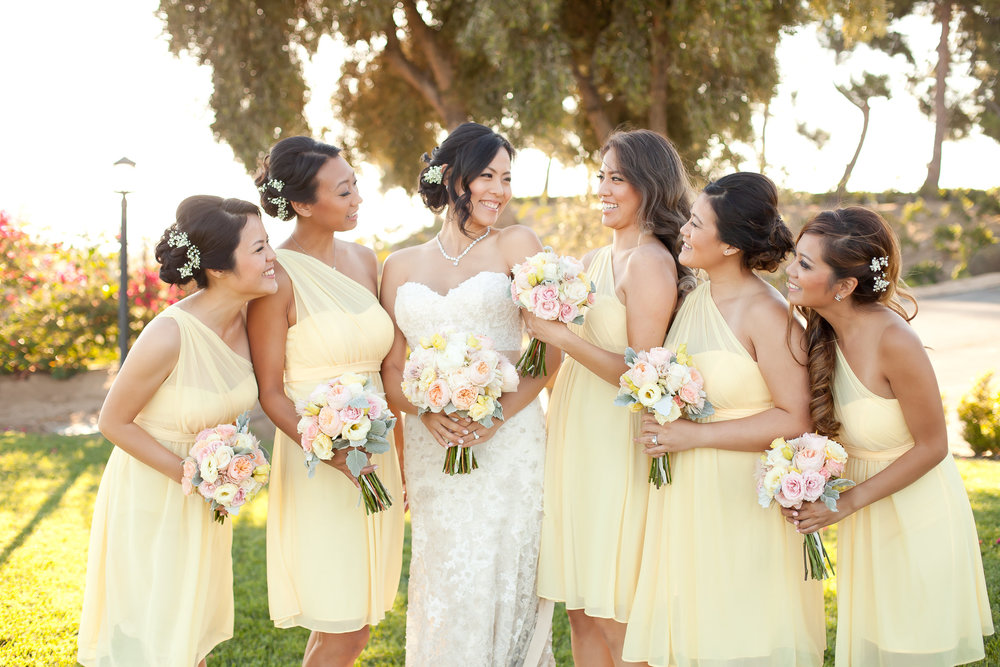 Pastel Yellow Bridesmaids Dresses | Michelle Garibay Events