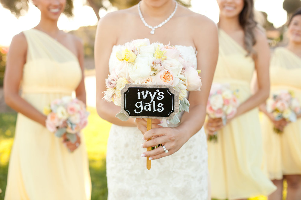 Pastel Yellow Bridesmaids | Michelle Garibay Events