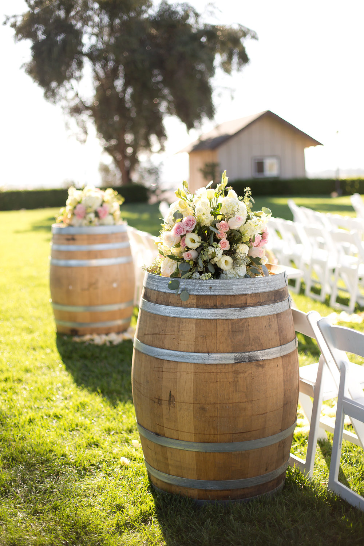 Ceremony Wine Barrels | Michelle Garibay Events