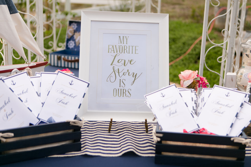 Nautical Glam Wedding in Coral and Navy |  Michelle Garibay Events