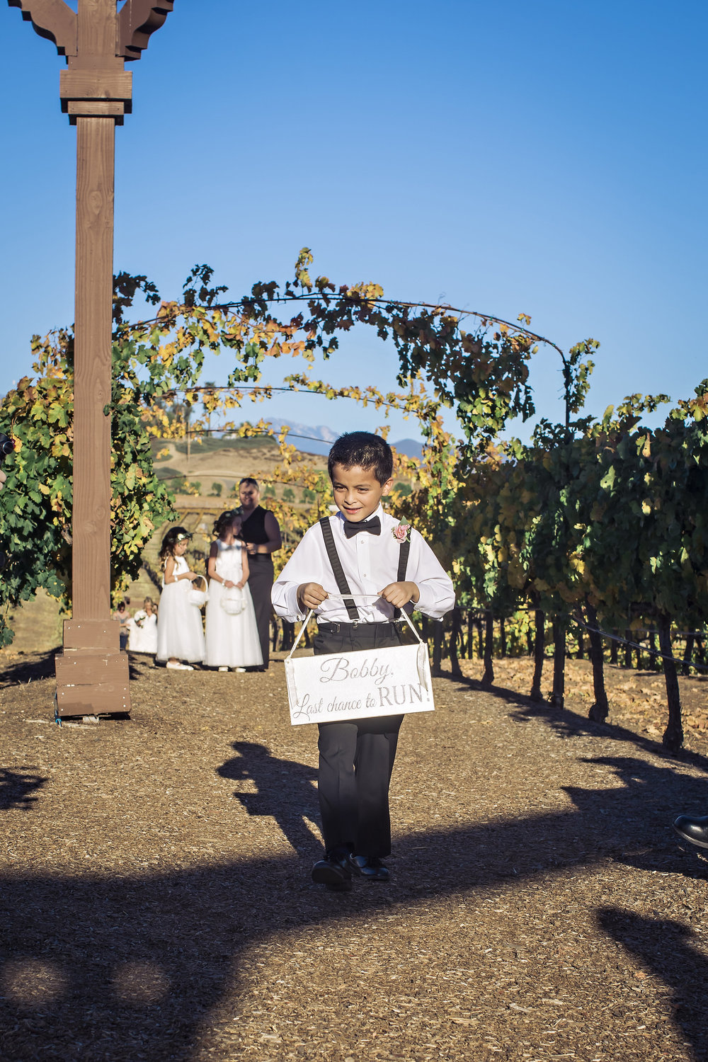 Last Chance to Run Sign | Merlot Mesa Ceremony | Michelle Garibay Events