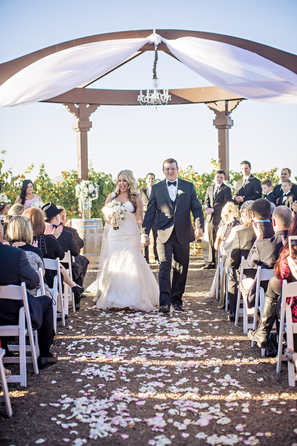 Merlot Mesa Blush and White Wedding Ceremony | Temecula Private Estate Wedding | Michelle Garibay Events