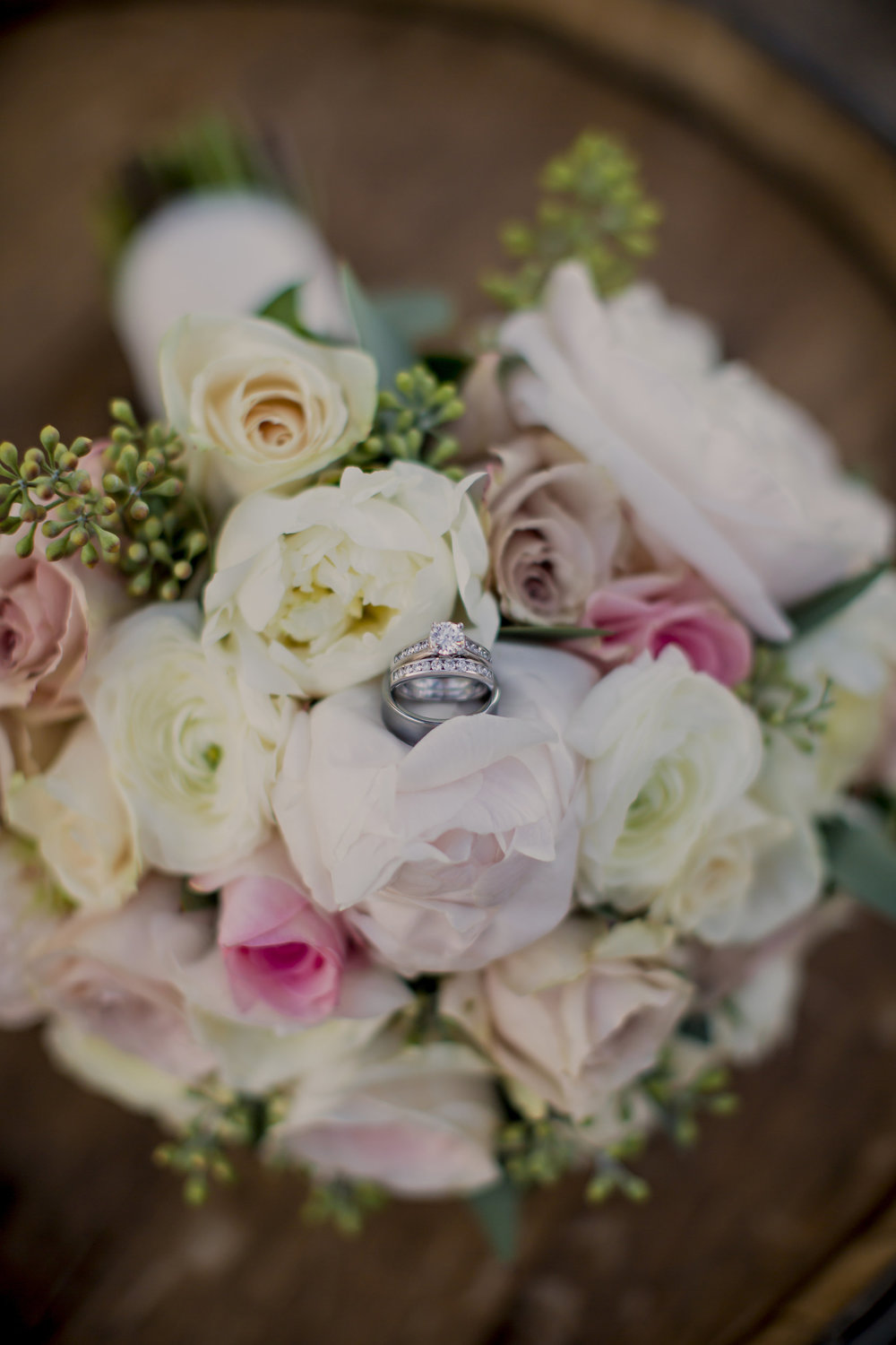 Romantic White and Blush Bride Bouquet | Temecula Private Estate Wedding | Michelle Garibay Events