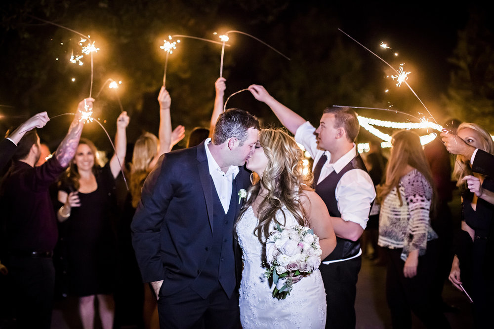 Sparkler Grand Exit | Temecula Private Estate Wedding | Michelle Garibay Events