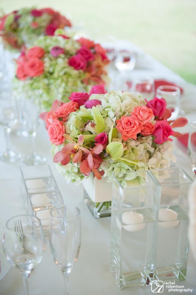 Lanikuhonua Wedding | Oahu Destination Wedding | Hawaii Wedding Planner | Coral and Green Centerpieces