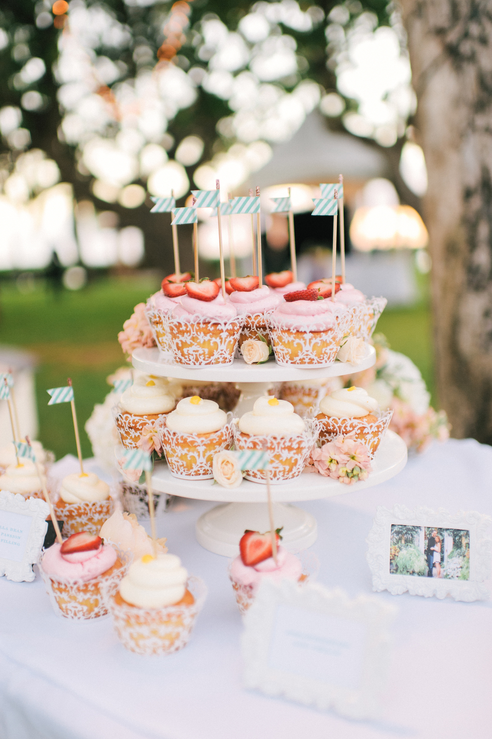 Michelle Garibay Events | Modern Vintage Hawaii Wedding | Oahu Destination Wedding | Peach and Gray Wedding | Dessert Bar