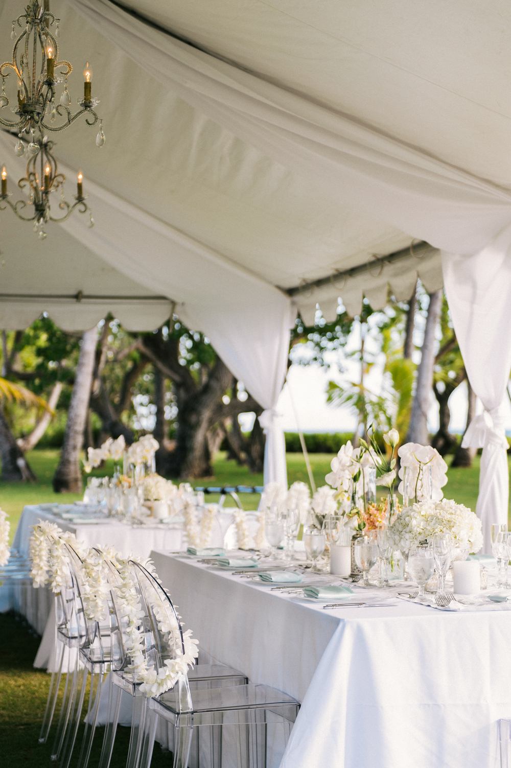 Michelle Garibay Events | Modern Vintage Hawaii Wedding | Oahu Destination Wedding | Peach and Gray Decor | Oceanfront Wedding