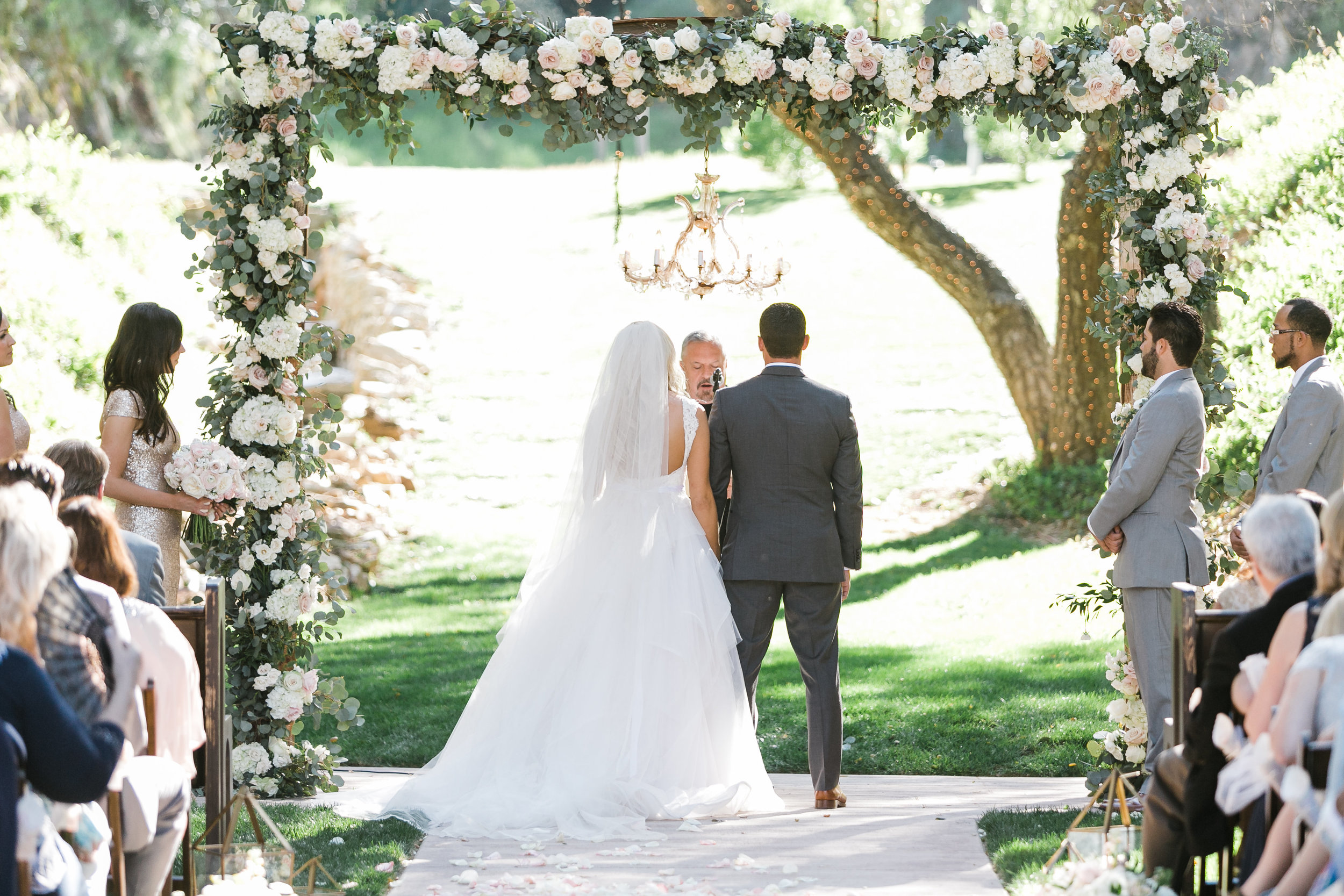 Blush And White Elegance At Los Willows Katie And Jason Michelle