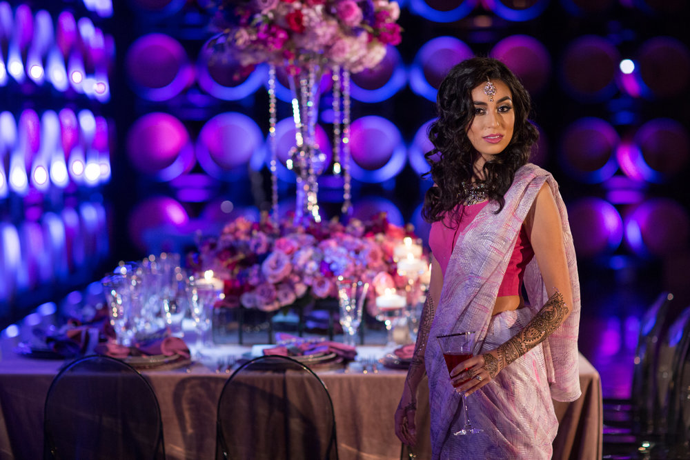 Purple and Gray Hindu Wedding Inspiration at Callaway Winery | France Photographers | Michelle Garibay Events