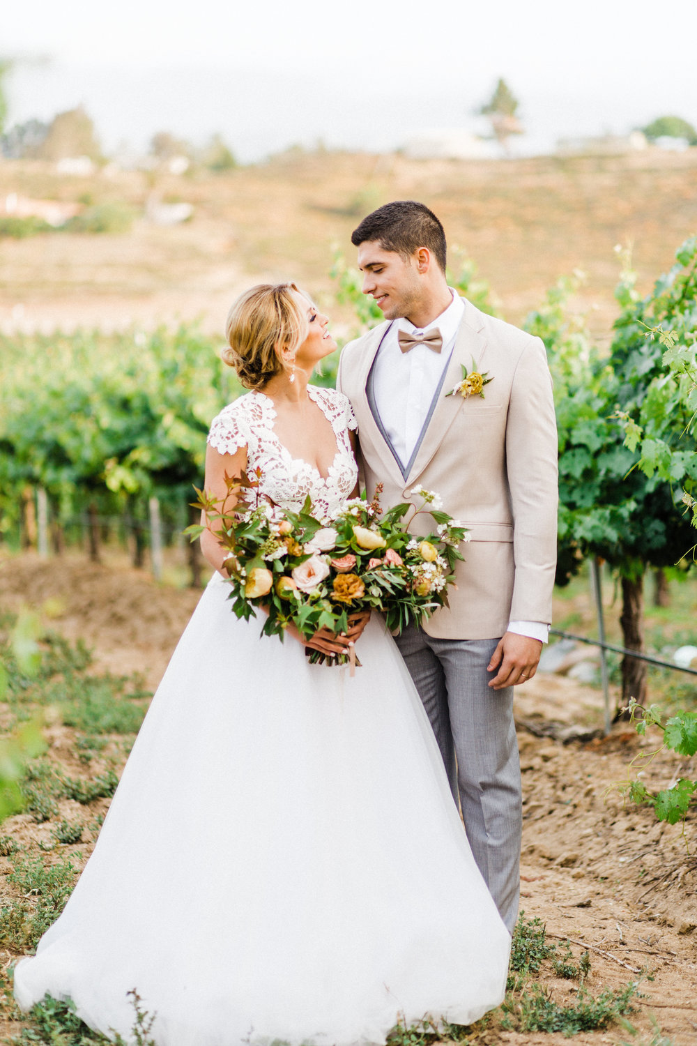 Vineyard Wedding Inspiration in Orange | Avensole Winery | Damrais Mia Photography | Michelle Garibay Events