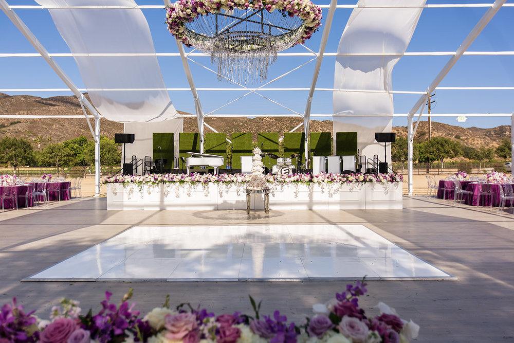 Brian Leahy Photo | Michelle Garibay Events | Luxury Temecula Wedding | La La Land Purple Wedding | Hollywood Glam Wedding | Floral Chandelier