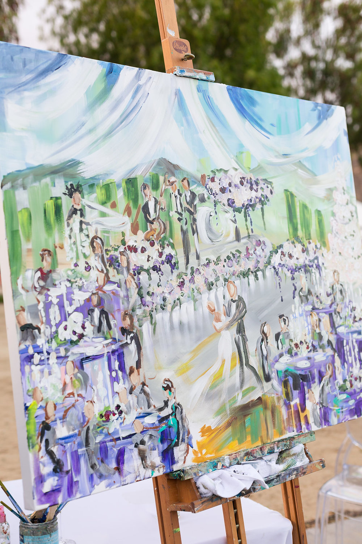 Brian Leahy Photo | Michelle Garibay Events | Luxury Temecula Wedding | La La Land Purple Wedding | Hollywood Glam Wedding | Live Painter