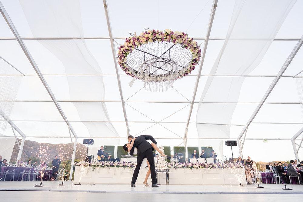 Brian Leahy Photo | Michelle Garibay Events | Luxury Temecula Wedding | La La Land Purple Wedding | Hollywood Glam Wedding | Pyrotechnics