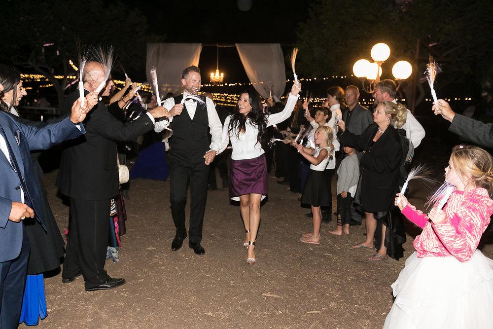 Brian Leahy Photo | Michelle Garibay Events | Luxury Temecula Wedding | La La Land Purple Wedding | Hollywood Glam Wedding | Grand Exit